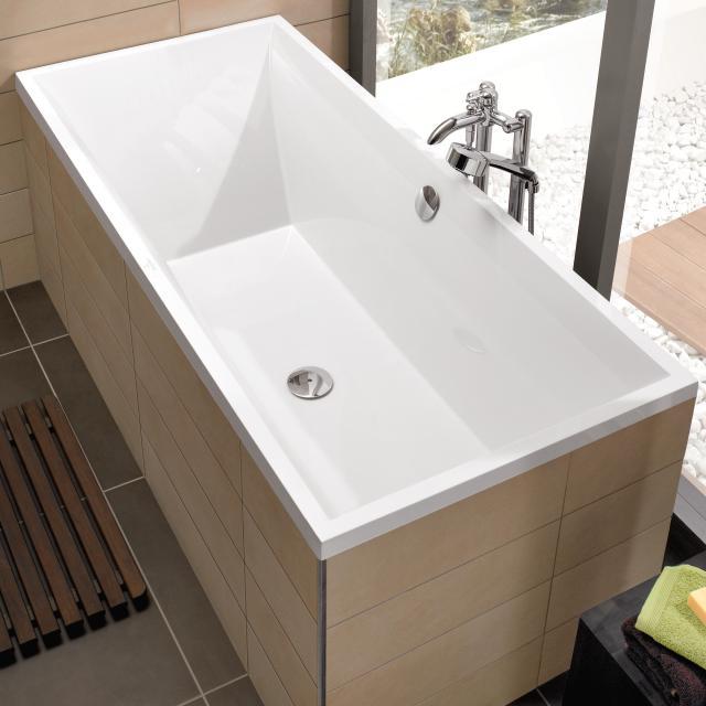 Villeroy & Boch Squaro Slim Line Rechteck-Badewanne, Einbau weiß