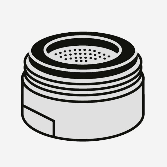 Villeroy & Boch Strahlregler für Einhand-Spültischbatterie edelstahl