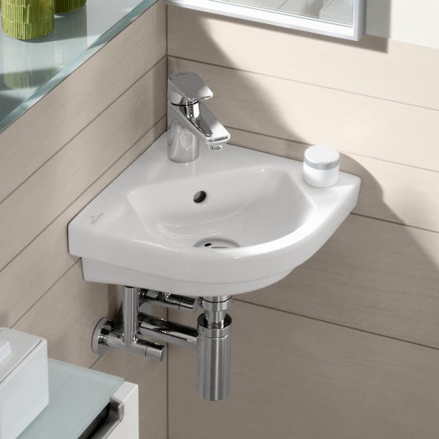 Villeroy & Boch Subway 2.0 Eck-Handwaschbecken weiß, mit Überlauf