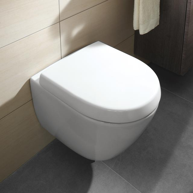 Villeroy & Boch Subway 2.0 Wand-Tiefspül-WC Compact ohne Spülrand, weiß, mit CeramicPlus