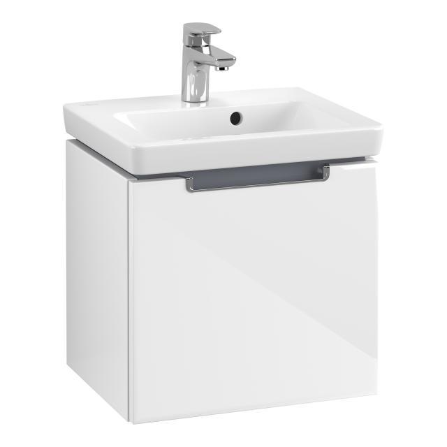 Villeroy & Boch Subway 2.0 Waschtisch mit Waschtischunterschrank mit 1 Auszug weiß, mit CeramicPlus
