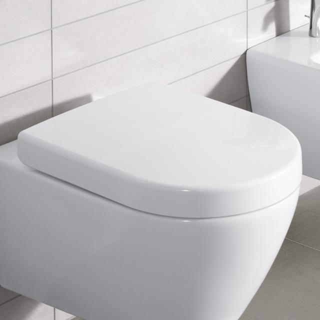 Villeroy & Boch Subway 2.0 WC-Sitz, abnehmbar weiß, mit Absenkautomatik