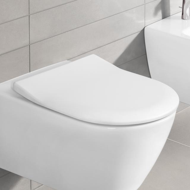 Villeroy & Boch Subway 2.0 WC-Sitz Slimseat, abnehmbar, mit Absenkautomatik weiß