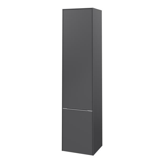 Villeroy & Boch Subway 3.0 Hochschrank mit 2 Türen Front graphite / Korpus graphite, Griffleiste aluminium glanz