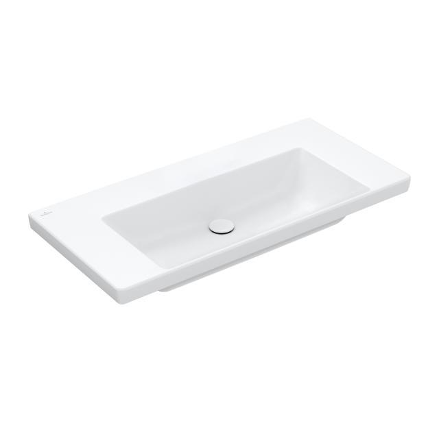 Villeroy & Boch Subway 3.0 Möbelwaschtisch stone white, mit CeramicPlus, ohne Hahnloch, ohne Überlauf