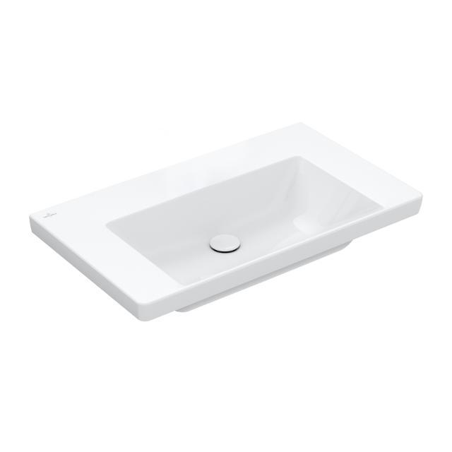 Villeroy & Boch Subway 3.0 Möbelwaschtisch weiß, mit CeramicPlus, ohne Hahnloch, ohne Überlauf