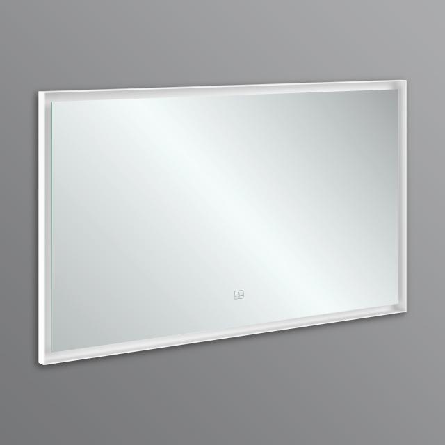 Villeroy & Boch Subway 3.0 Spiegel mit LED-Beleuchtung Aluminiumrahmen white matt, mit Sensordimmer