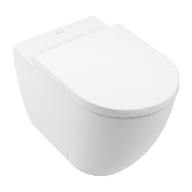 Villeroy & Boch Subway 3.0 Stand-Tiefspül-WC TwistFlush, mit WC-Sitz stone white, mit CeramicPlus