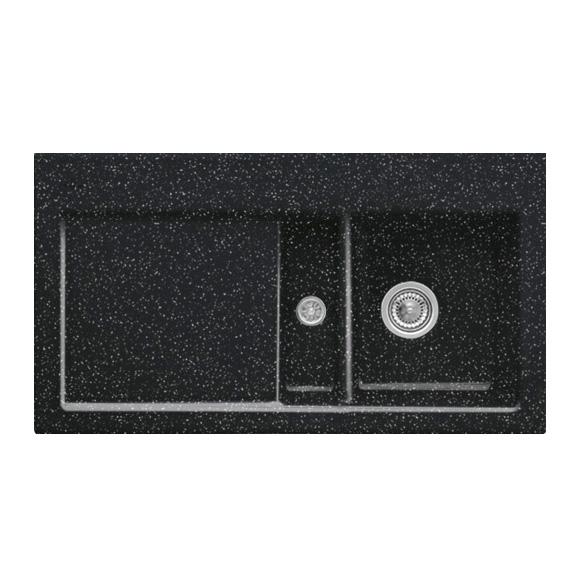 Villeroy & Boch Subway 50 Flat Spüle chromit glanz/Position Hahnloch 2