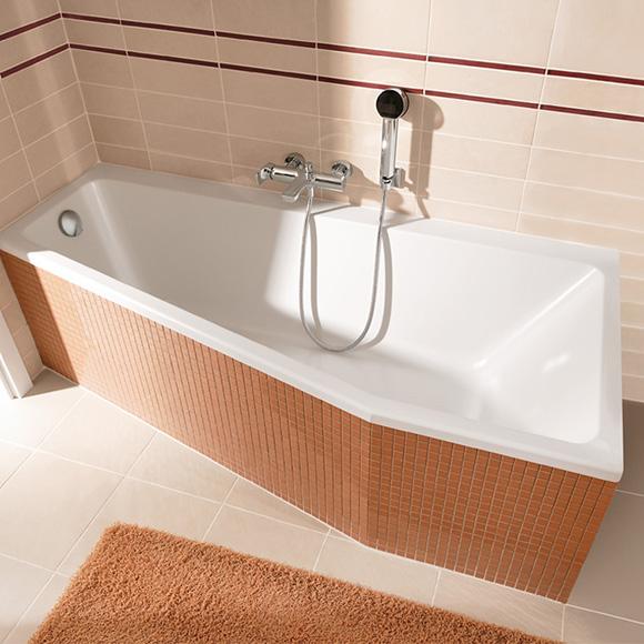 Villeroy & Boch Subway Raumspar-Badewanne, Einbau weiß