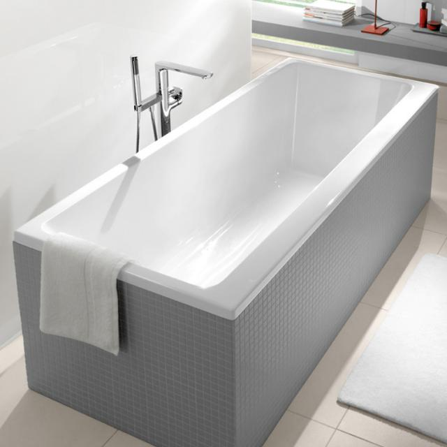 Villeroy & Boch Subway Rechteck-Badewanne, Einbau weiß