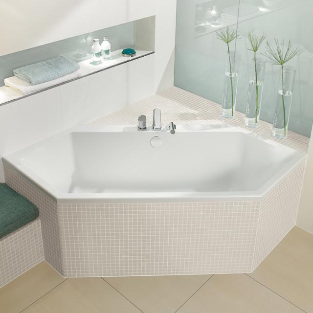 Villeroy & Boch Subway Sechseck-Badewanne, Einbau weiß