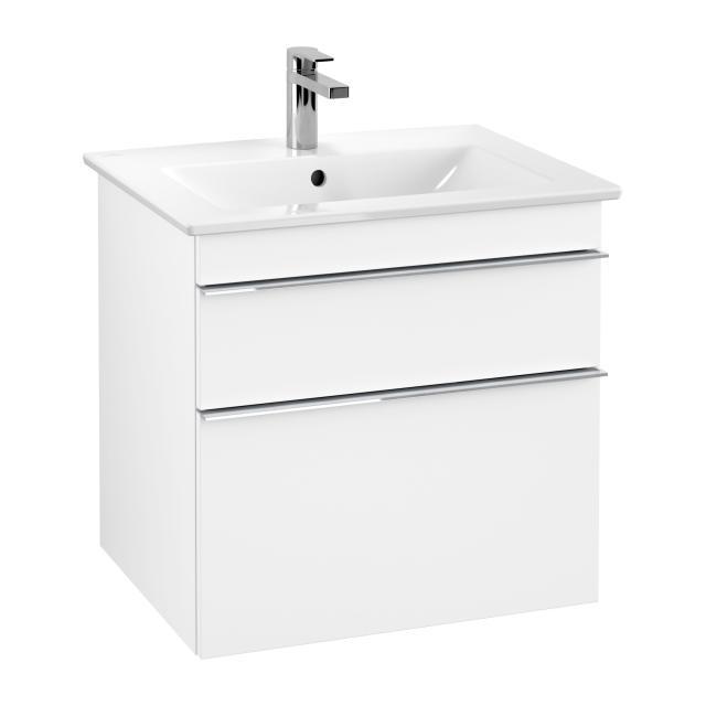 Villeroy & Boch Venticello Waschtischunterschrank XXL mit 2 Auszügen Front weiß matt / Korpus weiß matt, Griff chrom