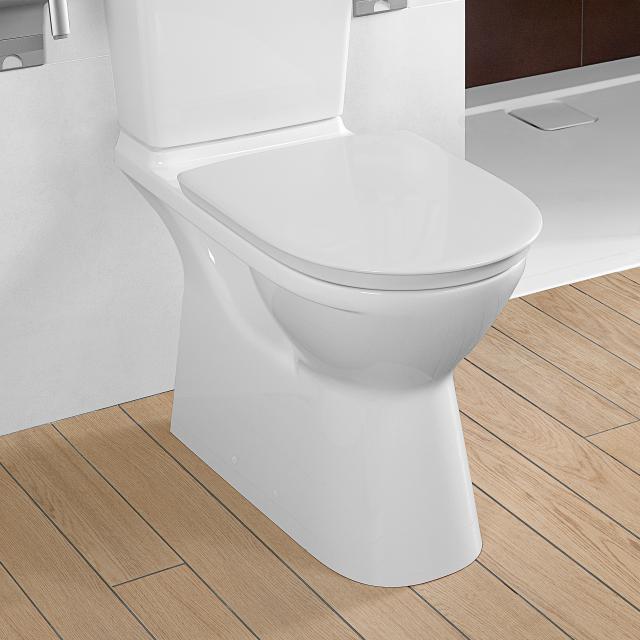Villeroy & Boch ViCare Stand-Tiefspül-WC für Kombination, offener Spülrand weiß, mit CeramicPlus