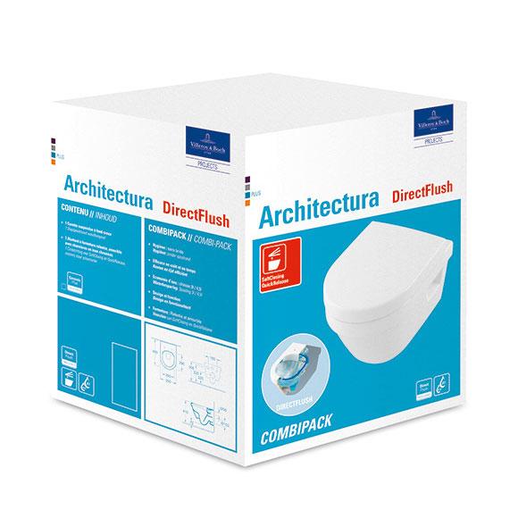 Villeroy /& Boch Architectura Combi-Pack compact Toilette ohne.. 4687HRR1