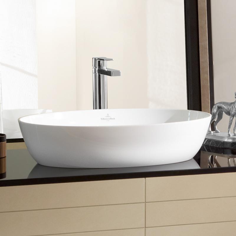 Villeroy und boch waschbecken rund  Villeroy & Boch Artis Aufsatzwaschtisch weiß mit CeramicPlus ohne ...