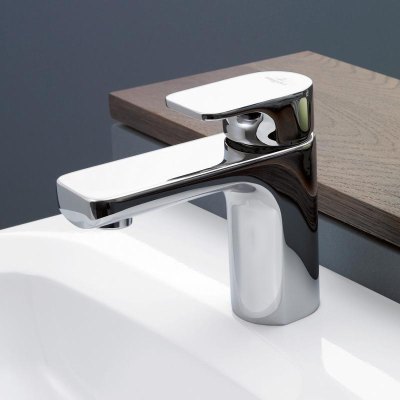 villeroy boch cult waschtisch einhandbatterie mit ablaufgarnitur chrom 33500960 00 reuter. Black Bedroom Furniture Sets. Home Design Ideas