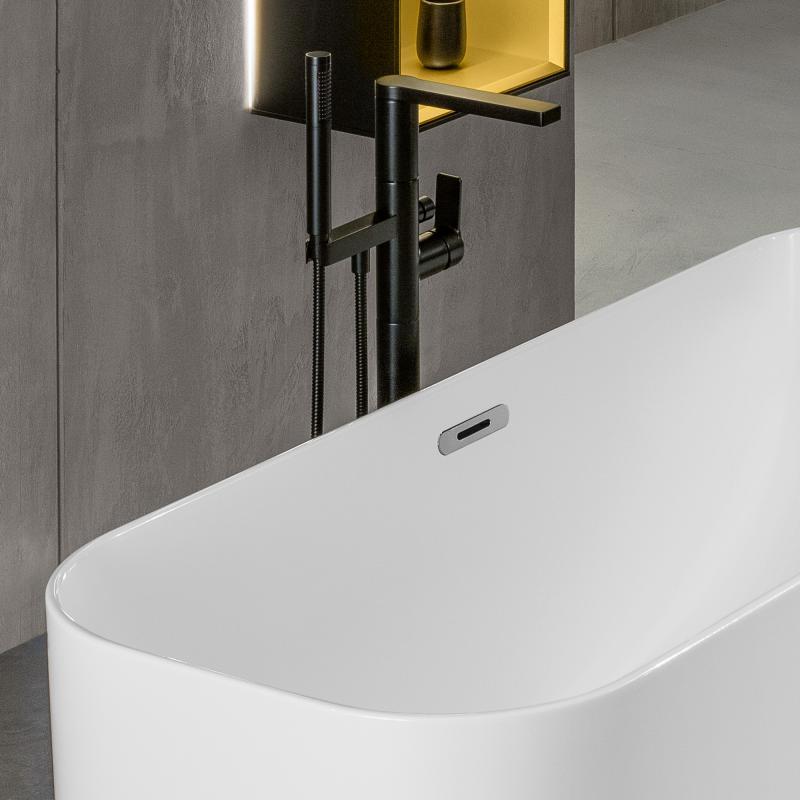 villeroy boch finion freistehende badewanne wei chrom ubq177fin7a100v401 reuter. Black Bedroom Furniture Sets. Home Design Ideas
