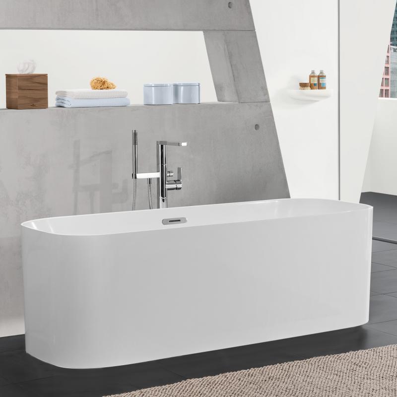 villeroy boch finion freistehende badewanne wei chrom. Black Bedroom Furniture Sets. Home Design Ideas