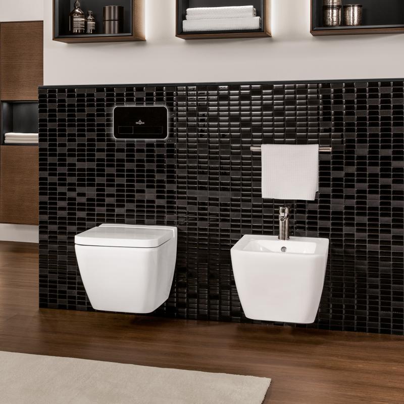 villeroy boch finion wand bidet starwhite mit ceramicplus 446500r2 reuter. Black Bedroom Furniture Sets. Home Design Ideas