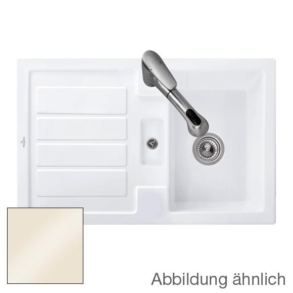 villeroy boch flavia 45 sp le mit handbet tigung b 80 t 51 cm creme glanz position. Black Bedroom Furniture Sets. Home Design Ideas