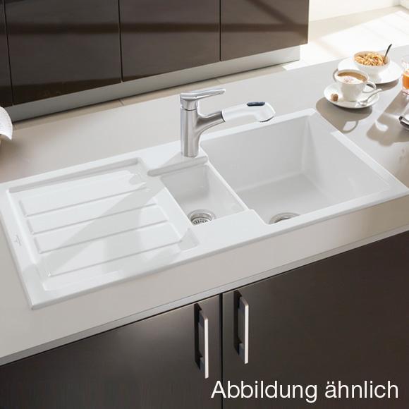 Villeroy & Boch Flavia 60 Spüle mit Handbetätigung B: 101 T: 51 cm ... | {Spülbecken keramik villeroy & boch 1}