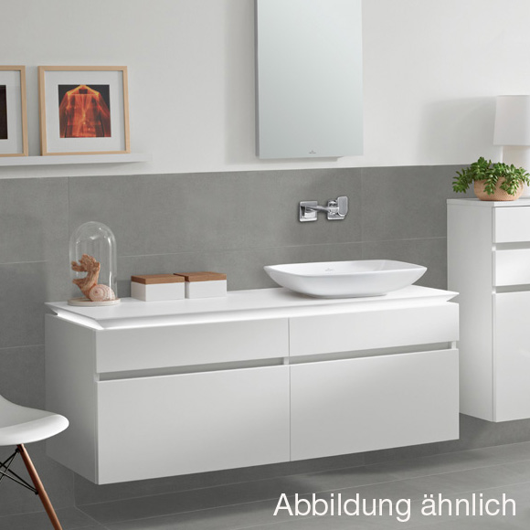 Waschtischunterschrank weiß  Villeroy & Boch Legato LED-Waschtischunterschrank für ...