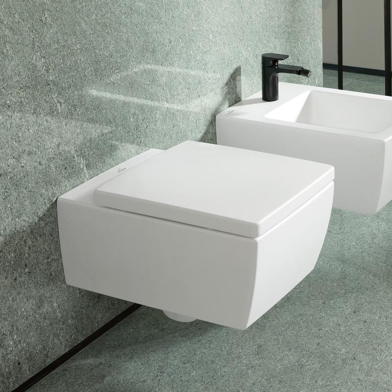 Villeroy & Boch Memento 2.0 Wand-Tiefspül-WC, spülrandlos ...