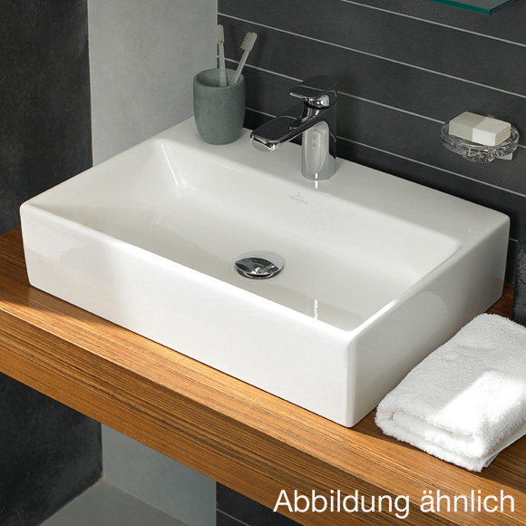 villeroy boch memento aufsatzwaschtisch wei 1 hahnloch mit berlauf 51356001 reuter. Black Bedroom Furniture Sets. Home Design Ideas