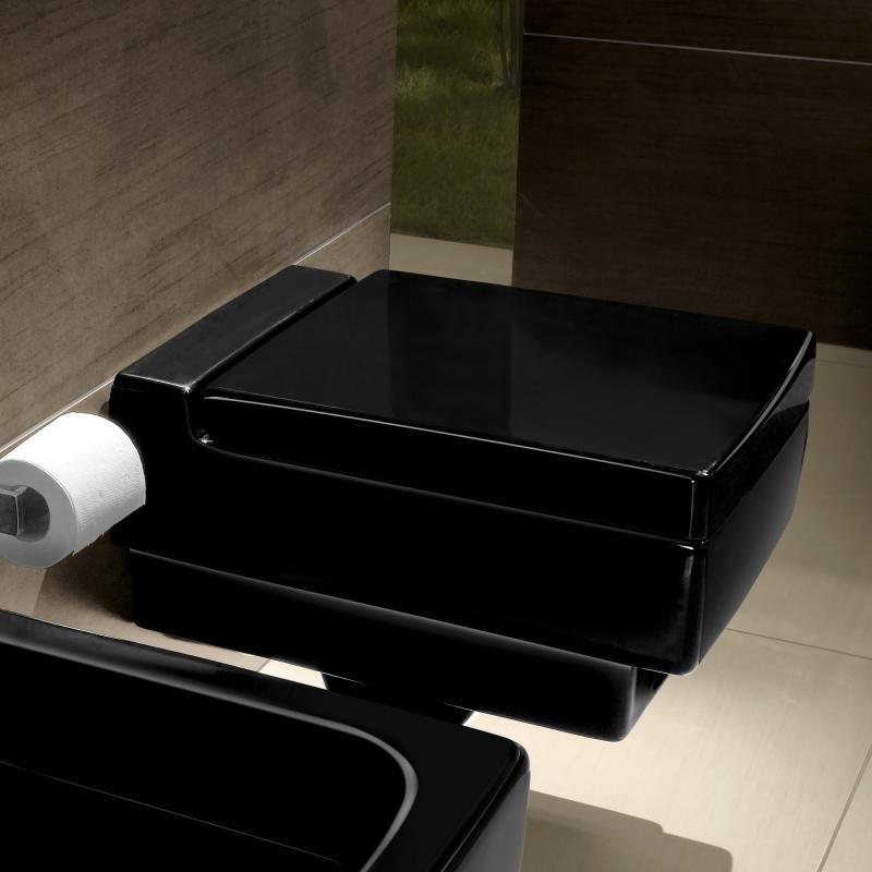 Villeroy & Boch Memento Tiefspül-Wand-WC glossy black CeramicPlus ...