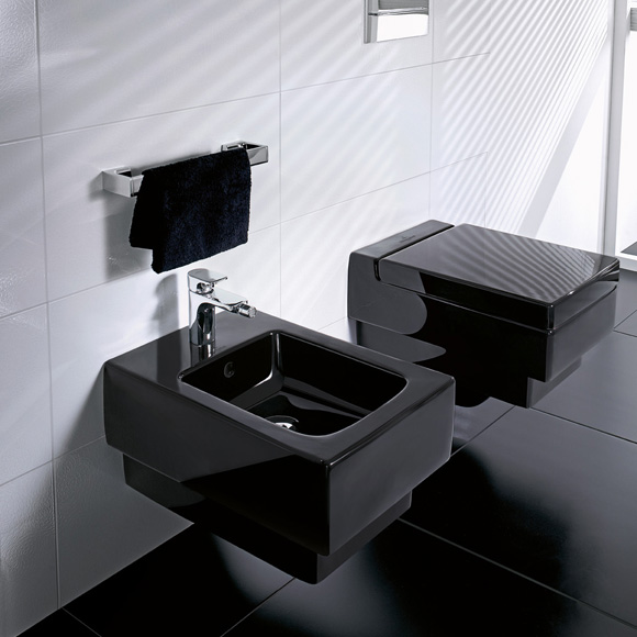 villeroy boch memento tiefsp l wand wc glossy black ceramicplus 562810s0 reuter. Black Bedroom Furniture Sets. Home Design Ideas
