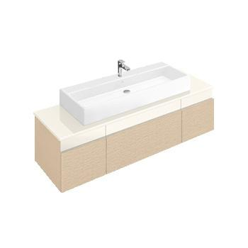 villeroy boch memento waschtischunterschrank mit 3 ausz gen und 3 schubladen front bright oak. Black Bedroom Furniture Sets. Home Design Ideas