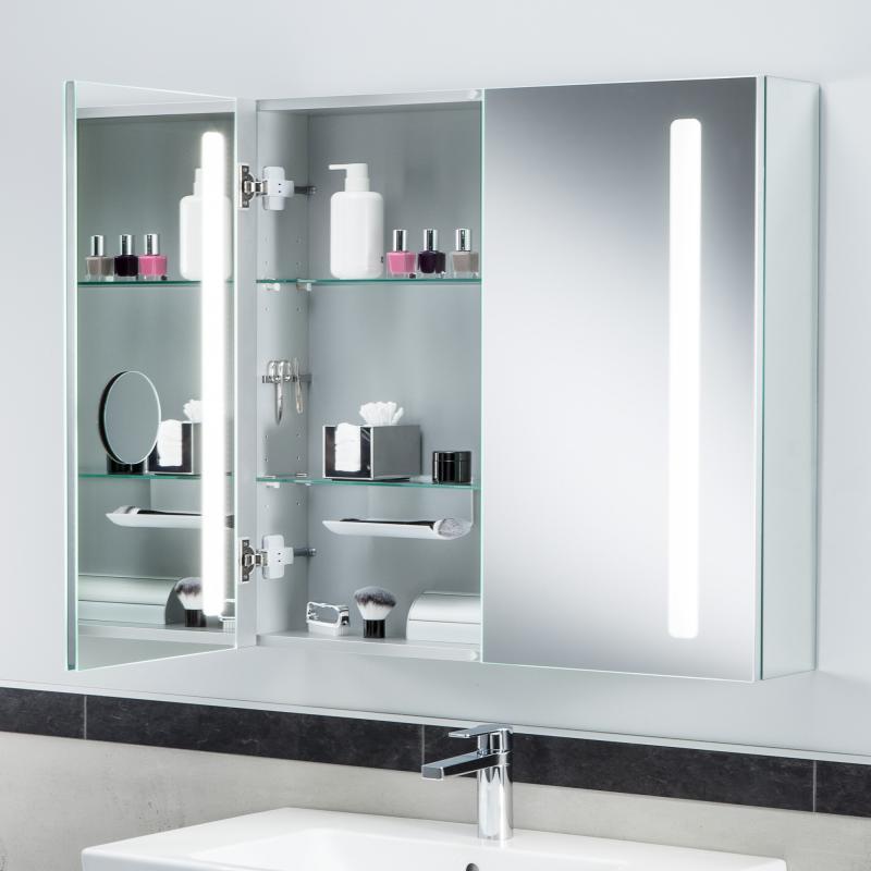 Spiegelschrank mit beleuchtung und ablage  Villeroy & Boch My View 14 Spiegelschrank mit LED-Beleuchtung ...