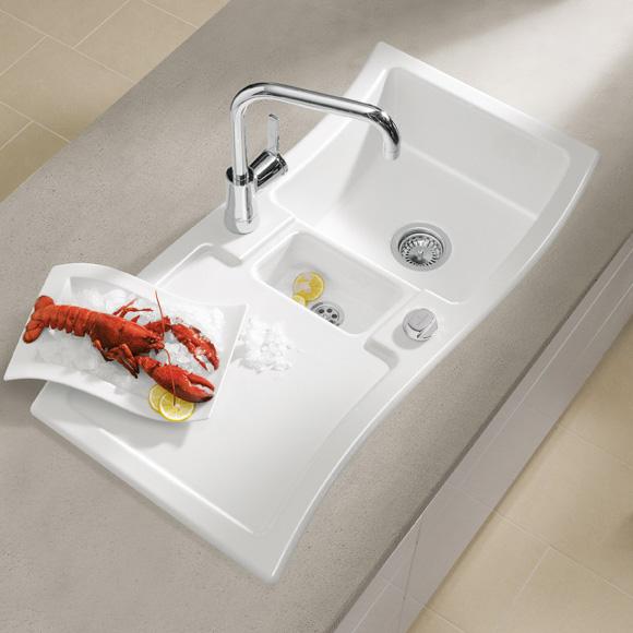villeroy boch new wave 60 sp le mit excenterbet tigung b 98 t 51 cm wei alpin hochglanz. Black Bedroom Furniture Sets. Home Design Ideas