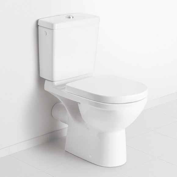 villeroy boch stand tiefsp l wc f r kombination wei mit ceramicplus abgang waagerecht. Black Bedroom Furniture Sets. Home Design Ideas