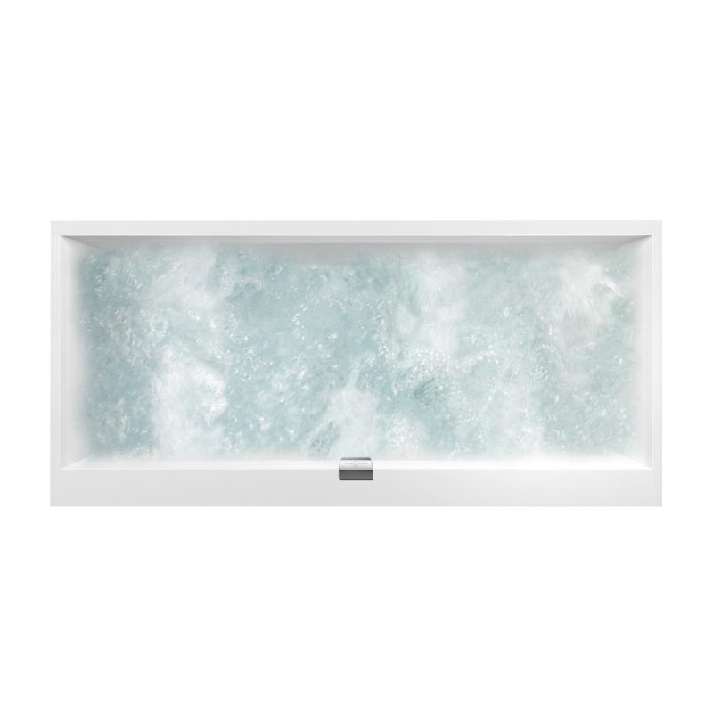 Villeroy boch squaro edge 12 duo rechteck badewanne mit for Villeroy und boch badewanne