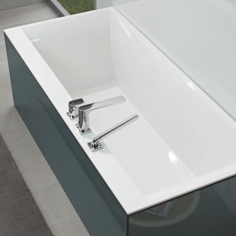 Villeroy boch squaro edge 12 rechteck badewanne wei for Villeroy und boch badewanne