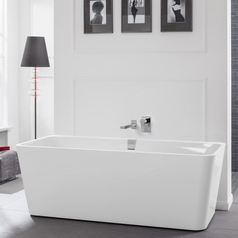 villeroy boch squaro excellence duo freistehende badewanne starwhite ohne integriertem. Black Bedroom Furniture Sets. Home Design Ideas