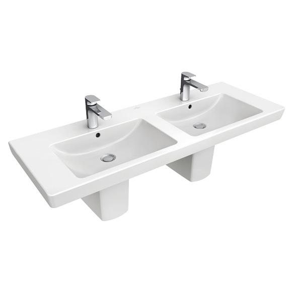 Villeroy & Boch Subway 2.0 Möbel-Doppelwaschtisch weiß mit ... | {Doppelwaschbecken maße 50}