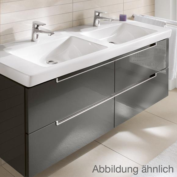 Doppelwaschtisch villeroy & boch  Villeroy & Boch Subway 2.0 Möbel-Doppelwaschtisch weiß mit Überlauf ...