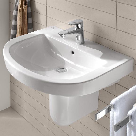 villeroy boch subway 2 0 waschtisch wei mit ceramicplus mit 1 hahnloch 711460r1 reuter. Black Bedroom Furniture Sets. Home Design Ideas
