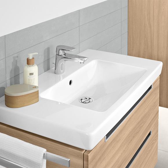 villeroy boch subway 2 0 waschtisch wei mit ceramicplus mit 1 hahnloch ungeschliffen mit. Black Bedroom Furniture Sets. Home Design Ideas