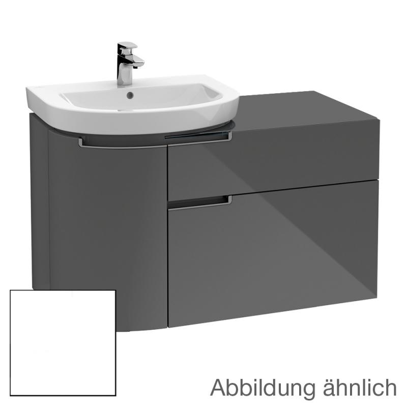 villeroy boch subway 2 0 waschtischunterschrank mit 2 ausz gen und 1 t r front wei matt. Black Bedroom Furniture Sets. Home Design Ideas