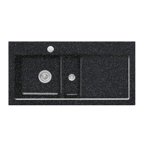 villeroy boch subway 60 sp le mit excenterbet tigung b 100 t 51 cm becken links chromit. Black Bedroom Furniture Sets. Home Design Ideas