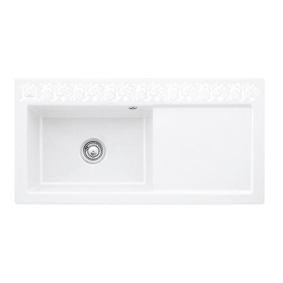 villeroy boch subway 60 xl sp le mit handbet tigung b 100 t 51 cm becken links white pearl. Black Bedroom Furniture Sets. Home Design Ideas