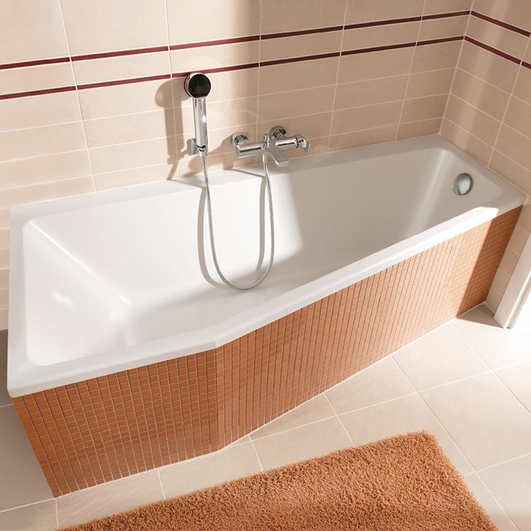 Villeroy boch subway badewanne ausf hrung links wei for Asymmetrische badewanne 170