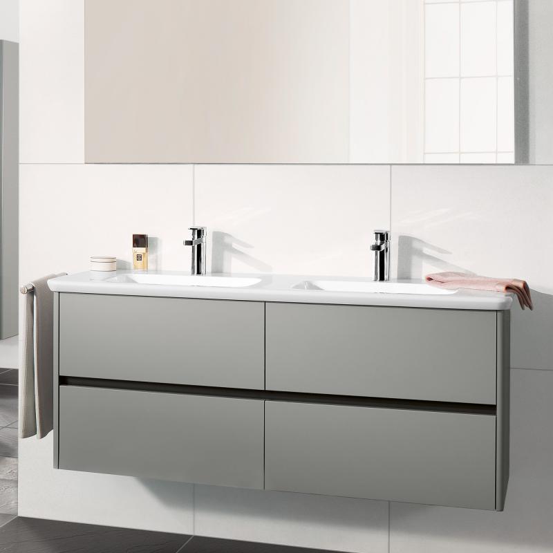 Trendig Villeroy & Boch Vivia Doppelwaschtisch weiß - 4143D101 | REUTER TZ09