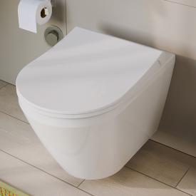 VitrA Aquacare Integra Wand-Tiefspül-WC-Set mit Bidetfunktion, mit WC-Sitz