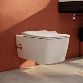 VitrA Aquacare Metropole Wand-Tiefspül-WC-Set mit Bidetfunktion, mit WC-Sitz mit integrierte Armatur