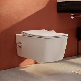 VitrA Aquacare Metropole Wand-Tiefspül-WC-Set mit Bidetfunktion, mit WC-Sitz mit integrierter Thermostat-Armatur